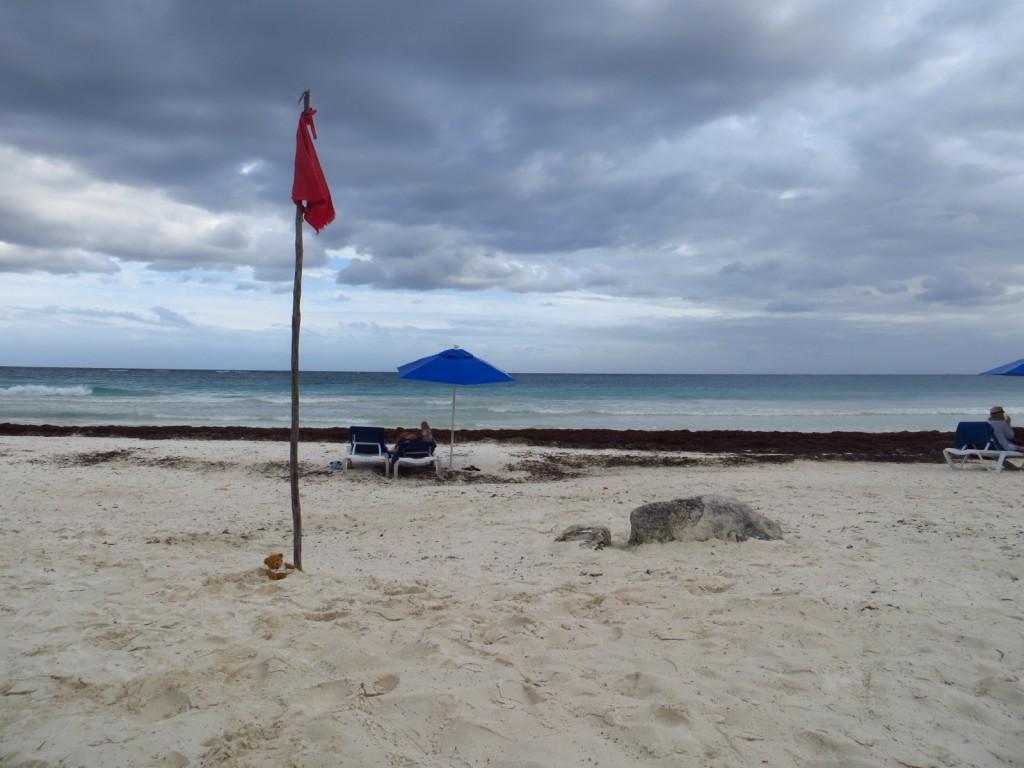 Sjengske verovert het strand