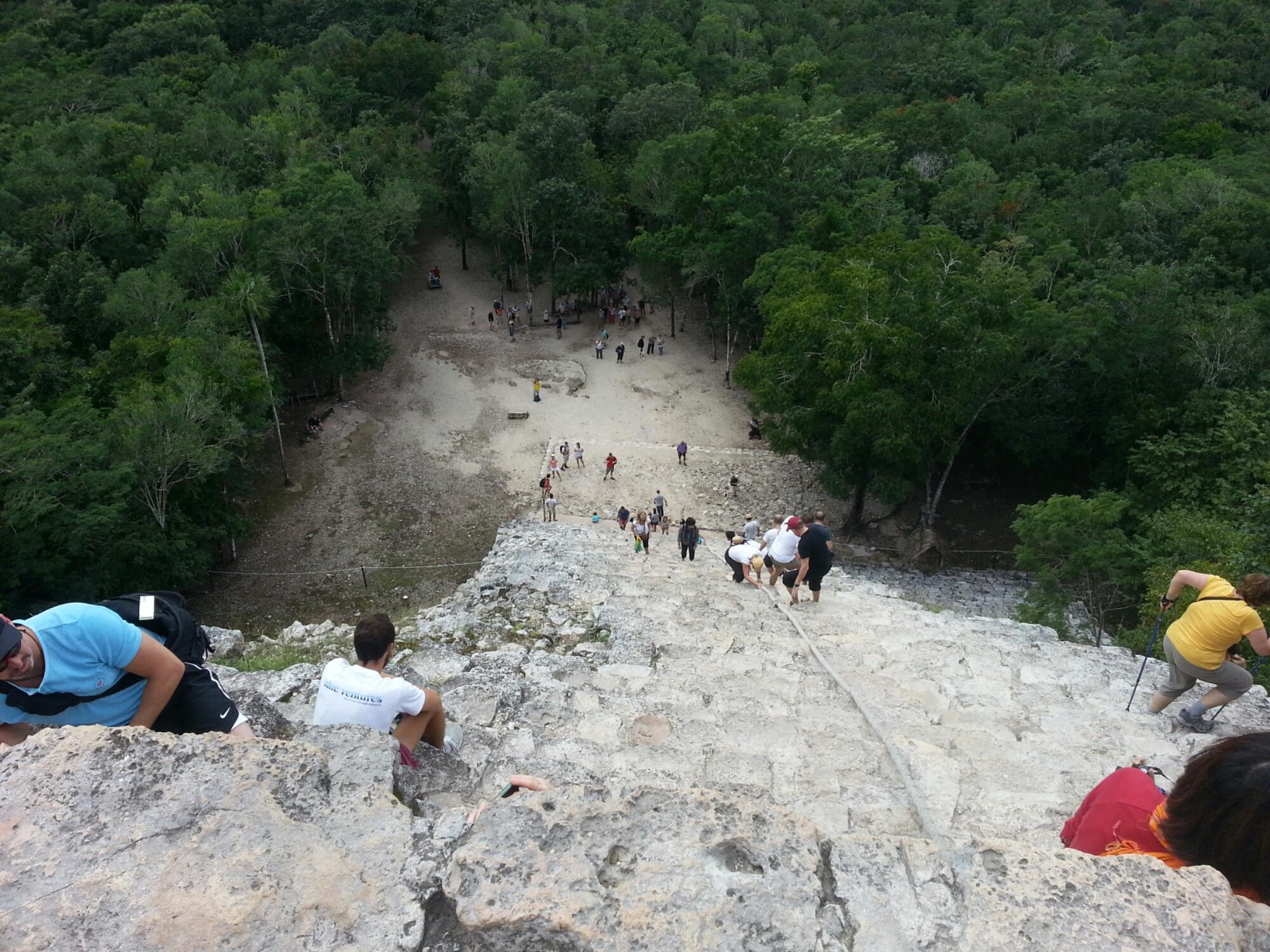 Vanaf de top van de Maya tempel
