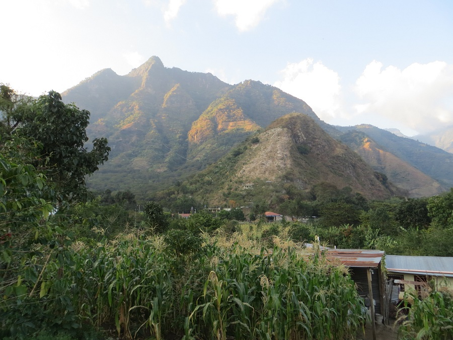 Uitzicht vanuit onze 'casa' in San Juan