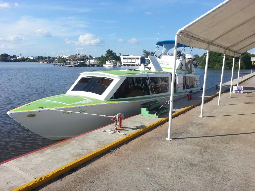 De boot van Chetumal naar Caye Caulker