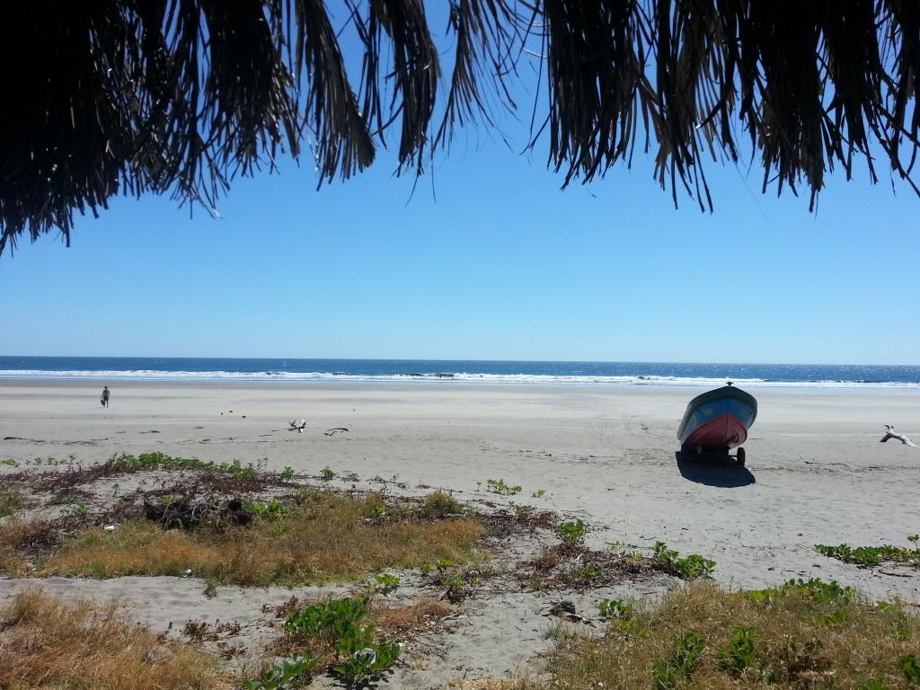 Het mooie strand bij La Tortuga Verde