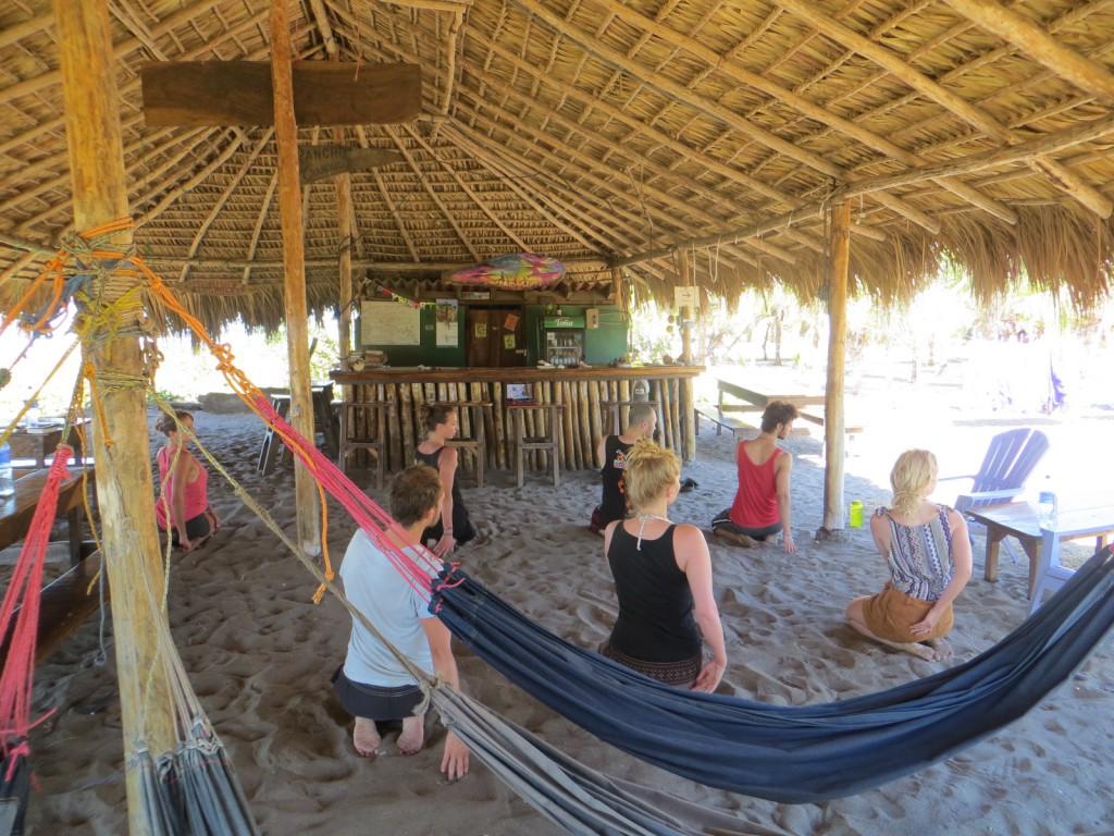 Yoga in de bar