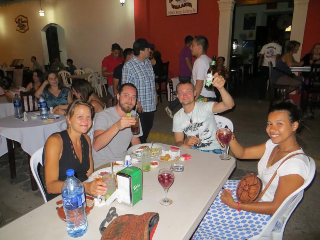 Chandelle, Peter, Michiel en Tanya