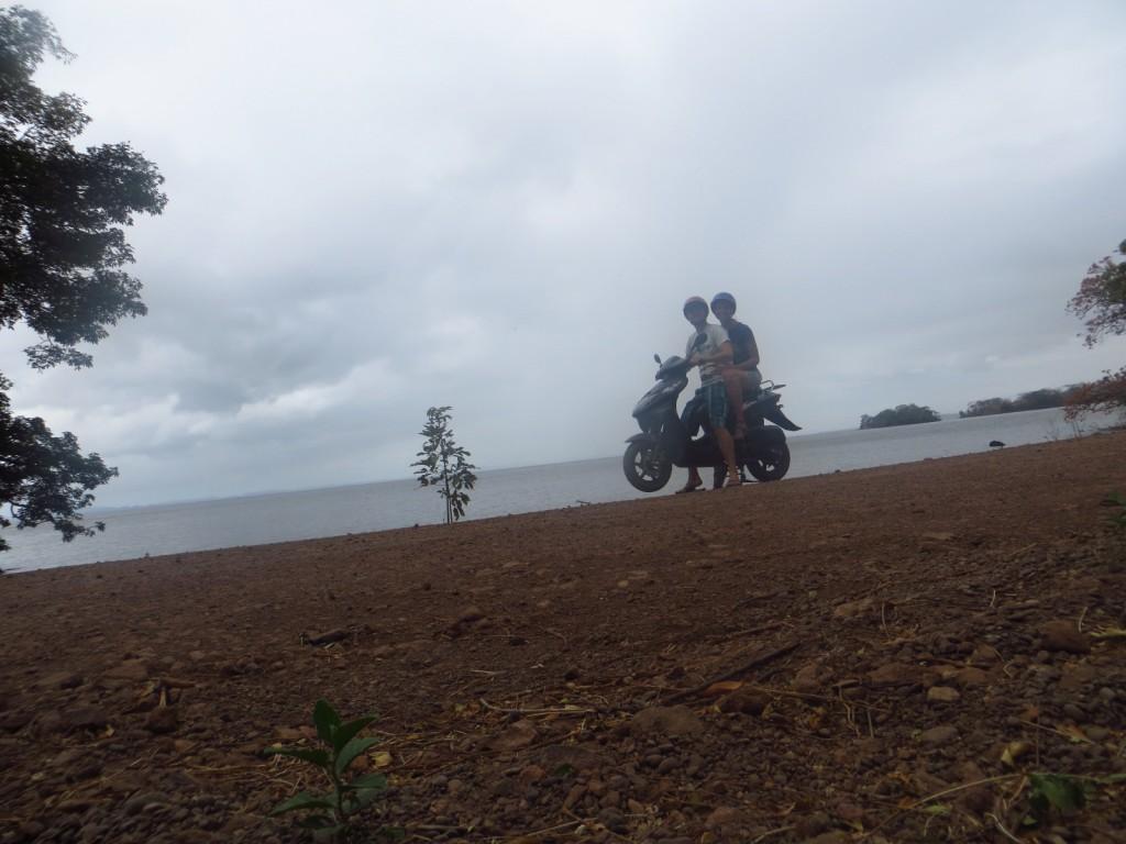 Scooter op Ometepe