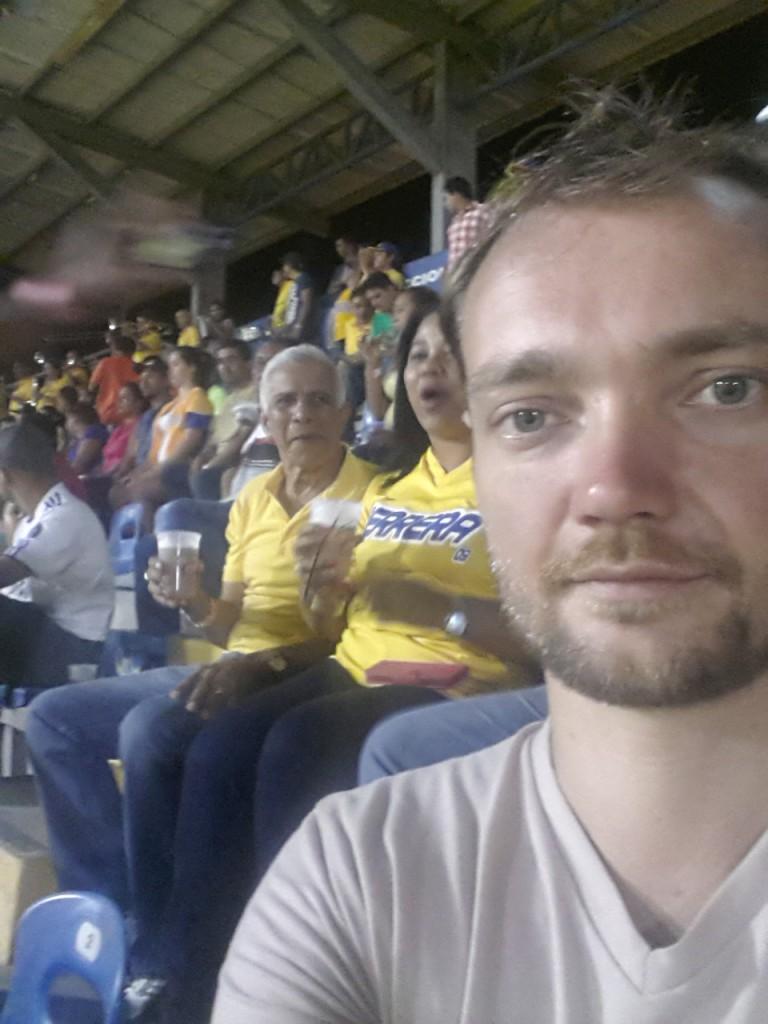 Selfie in het stadion