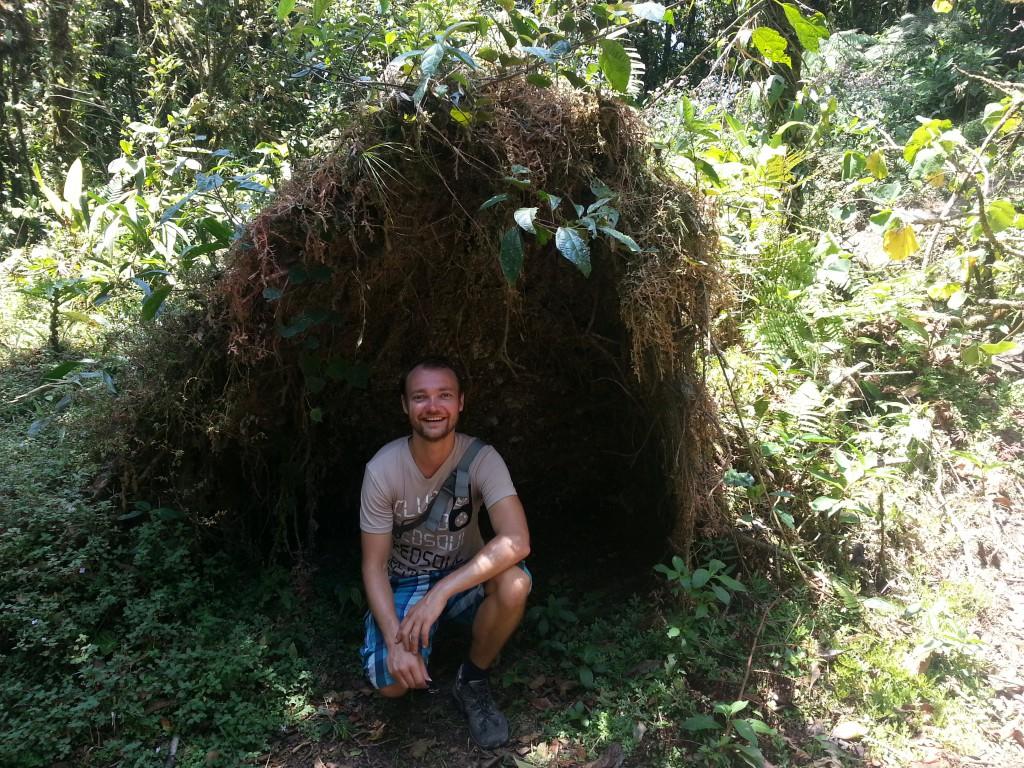 De 'hut' aan de voet van het paradijs.