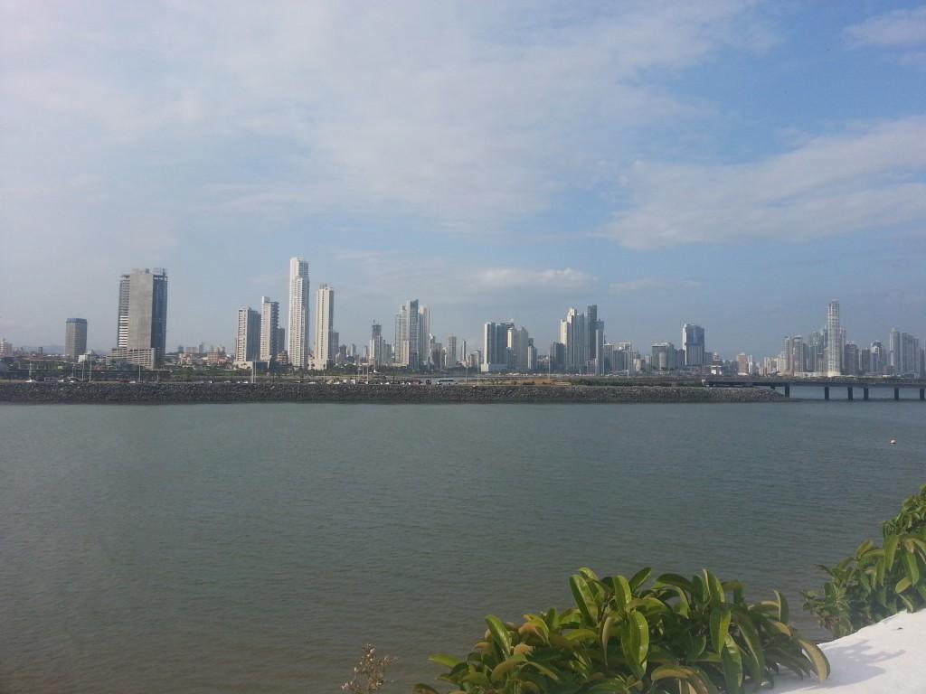 De skyline van Panama-Stad.