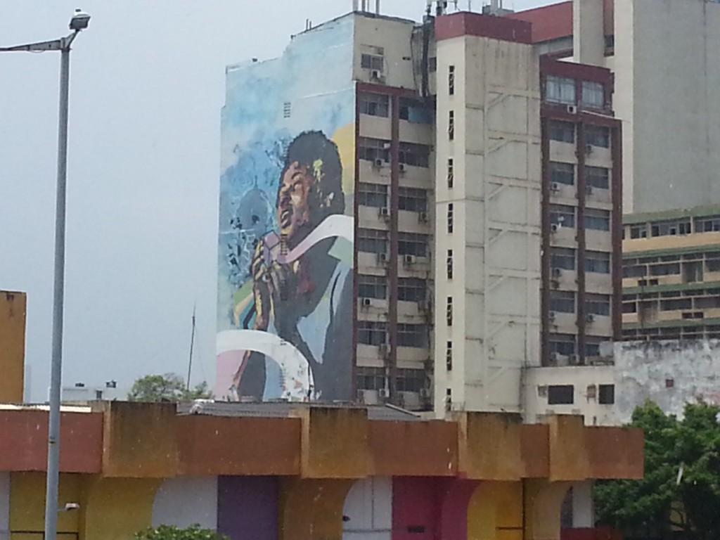 Hele gebouwen worden hier beschilderd.