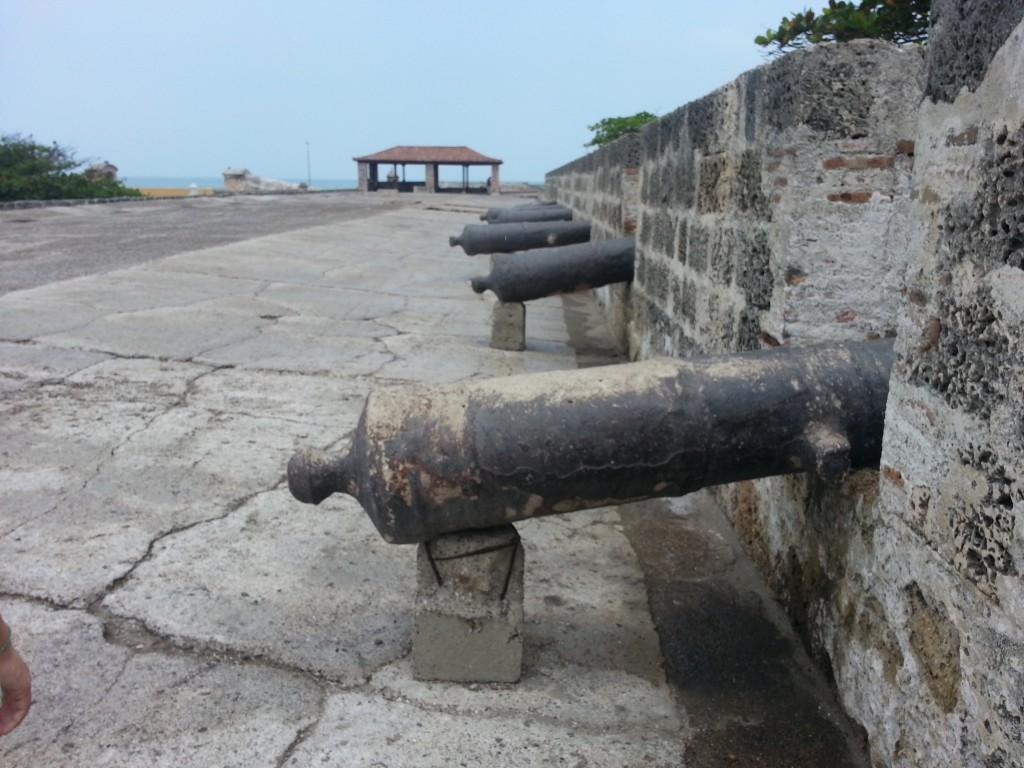 Kanonnen van het fort.
