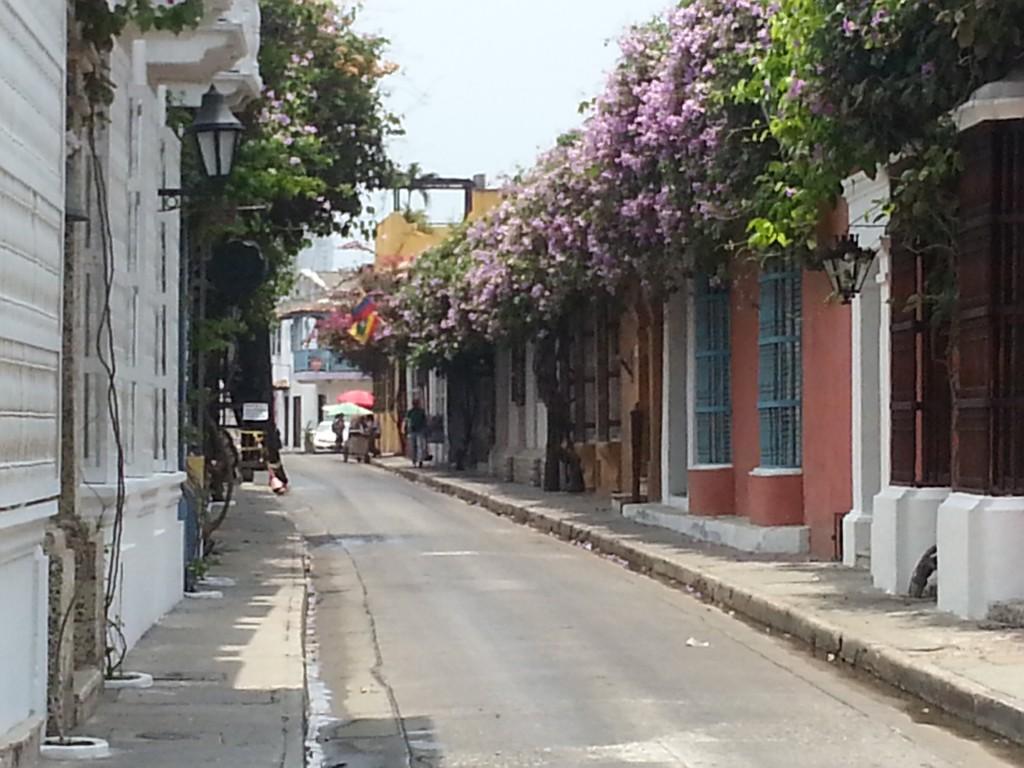 De kleurrijke straten van Cartagena.
