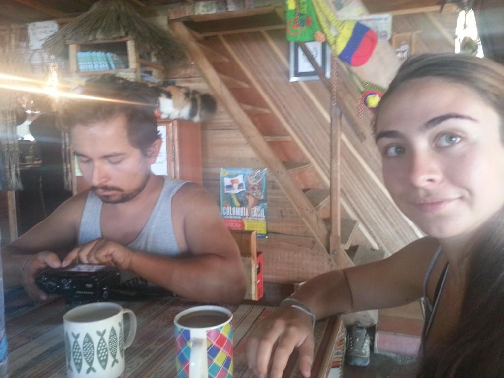 Oscar en Danielle in het hostel