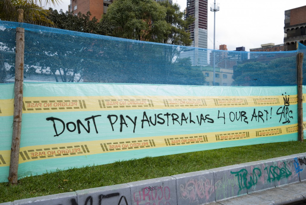 Don't pay the Australian for our art!