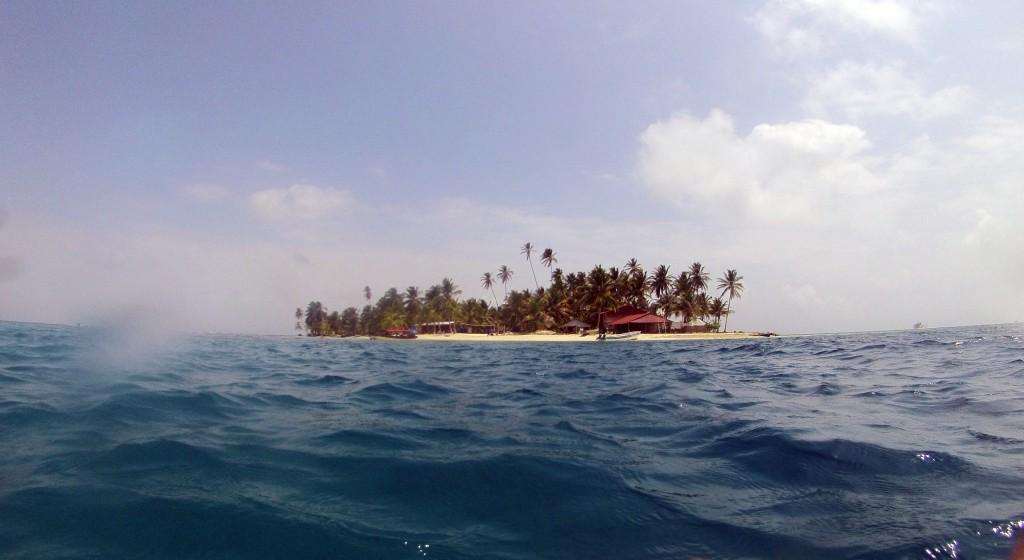Isla Diablo, het eilandje waar ik op verbleef.