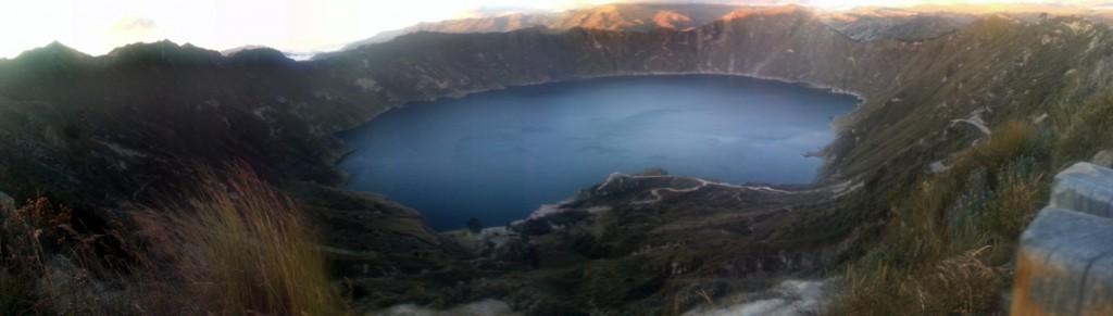 Het Quilotoa meer.