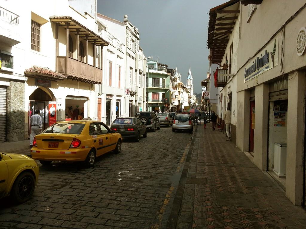 De antieke straten van Cuenca.