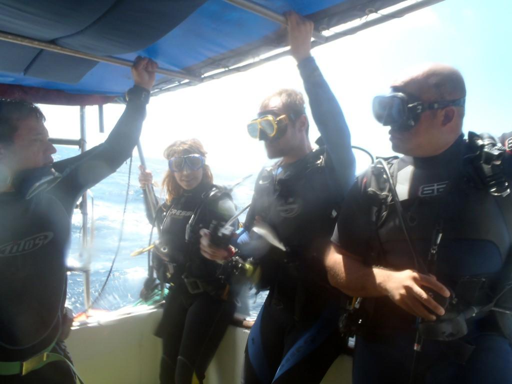 """""""Klaar om het water in te gaan?"""", vraagt de duikleider"""