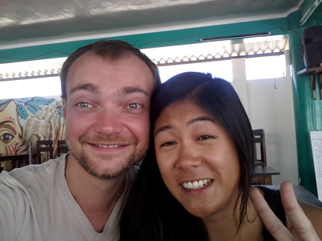 Gekke foto van Tu Vy en mij.