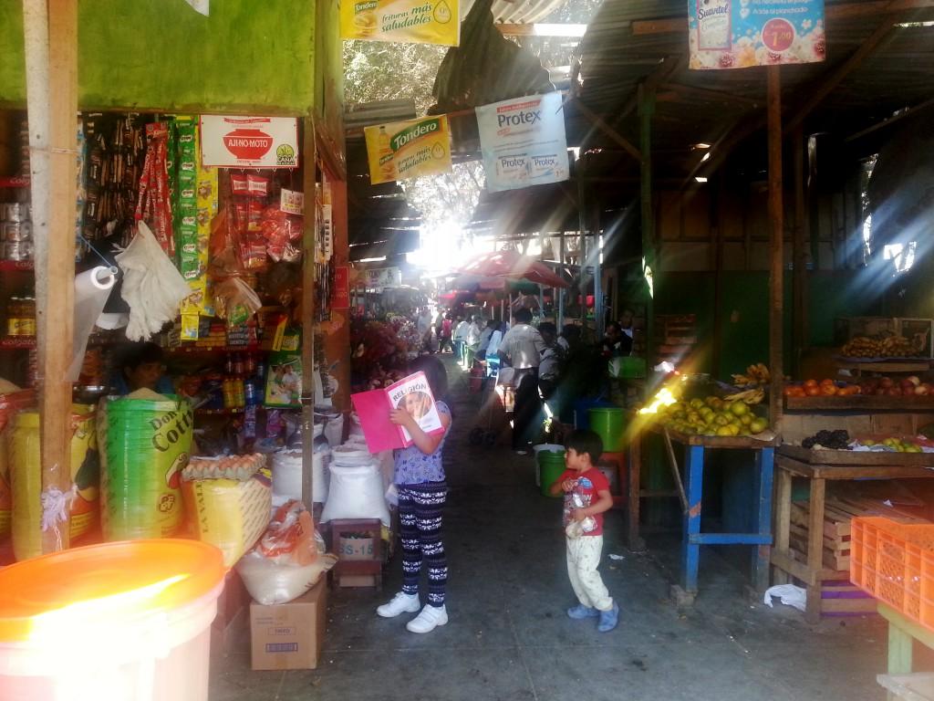De heksenmarkt in Chiclayo. Hier worden allemaal drankjes verkocht die je meer geluk in de liefde zouden bieden en andere onzin.