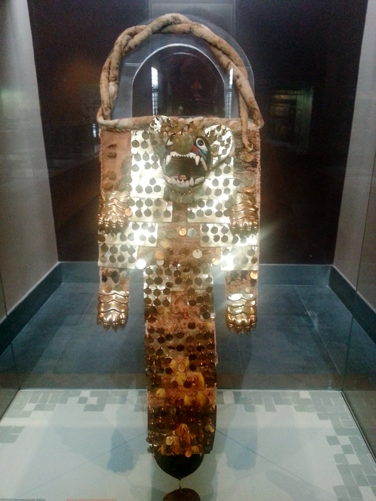 Eén van de sieraden die de priesters van de Moche droegen.