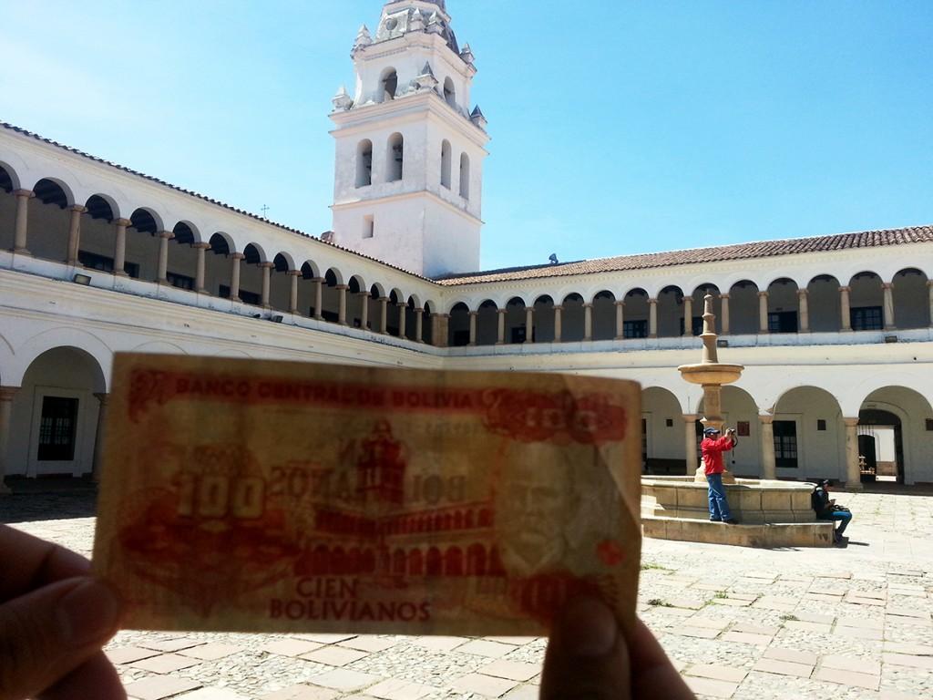 Altijd leuk als je het gebouw kan bezoeken dat ook op het geld gedrukt staat!