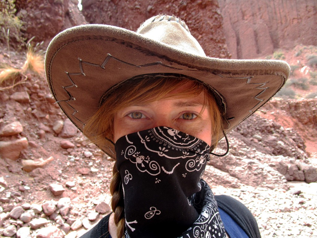 Caroline als cowboy